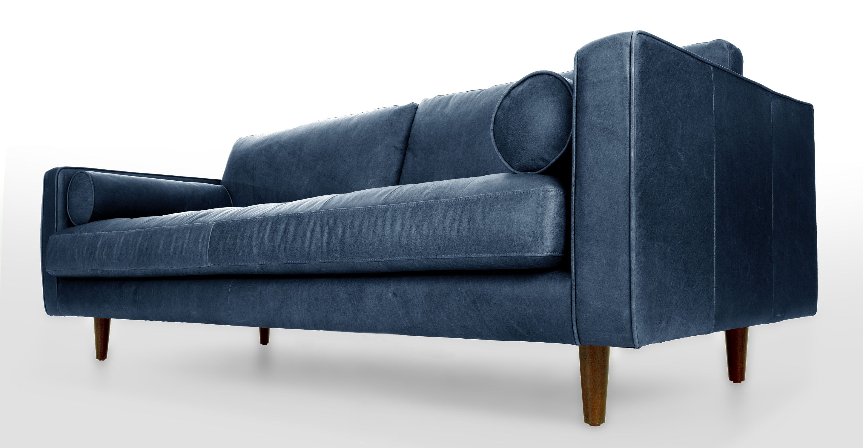Sven Oxford Blue Sofa | Blue leather sofa, Blue leather ...
