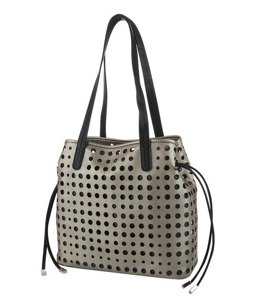 Love this Kenneth Cole Reaction Bronze & Black Holed Out Shopper Tote by Kenneth Cole Reaction on #zulily! #zulilyfinds