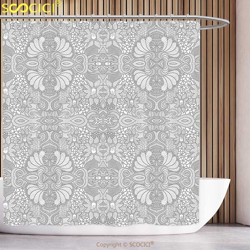 Stylish Shower Curtain Flower Floral Indian Paisley Motif Inspired