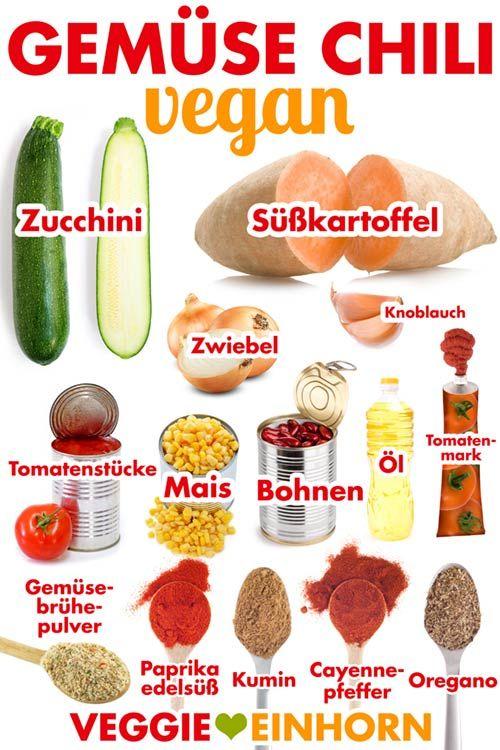 Veganes Gemüse-Chili #veggiechilirecipe
