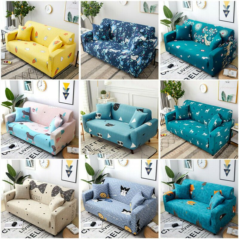 Elastic 1 2 3 4 Seater Multi Color Sofa Slipcover Couch Cover Home Livingroom Ebay In 2020 Slip Covers Couch Slipcovered Sofa Couch Covers