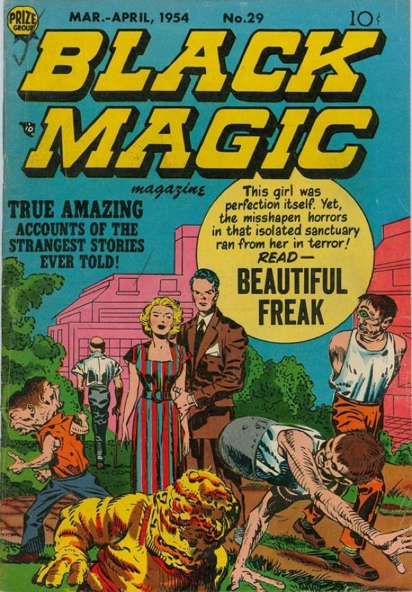Cover for Black Magic comic book, 1954