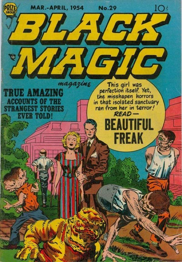 Cover for Black Magic comic book,1954