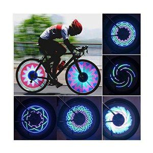 Crazy Shopping Cycling Bike Bicycle Wheel Tire Valve Spoke 16 Led