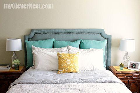 diy headboard with nailhead trim bedroom ideas diy