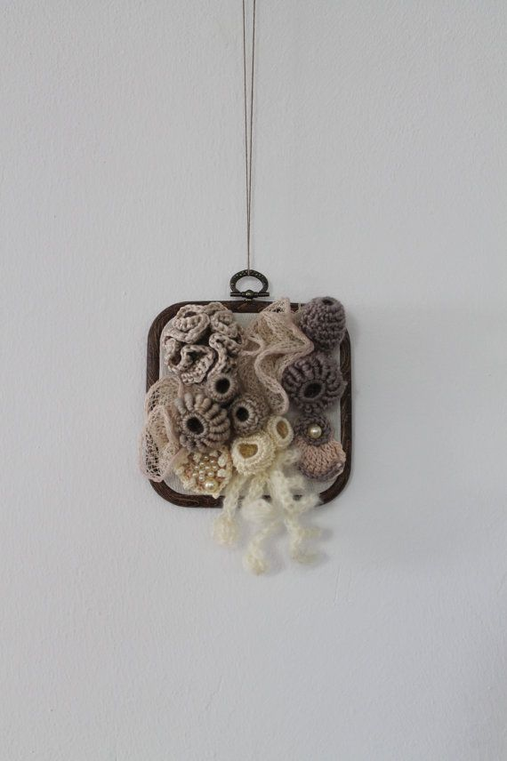 Coral Reef , Freeform Crochet Wall Hanging , Sculpture , Fiber Art ...