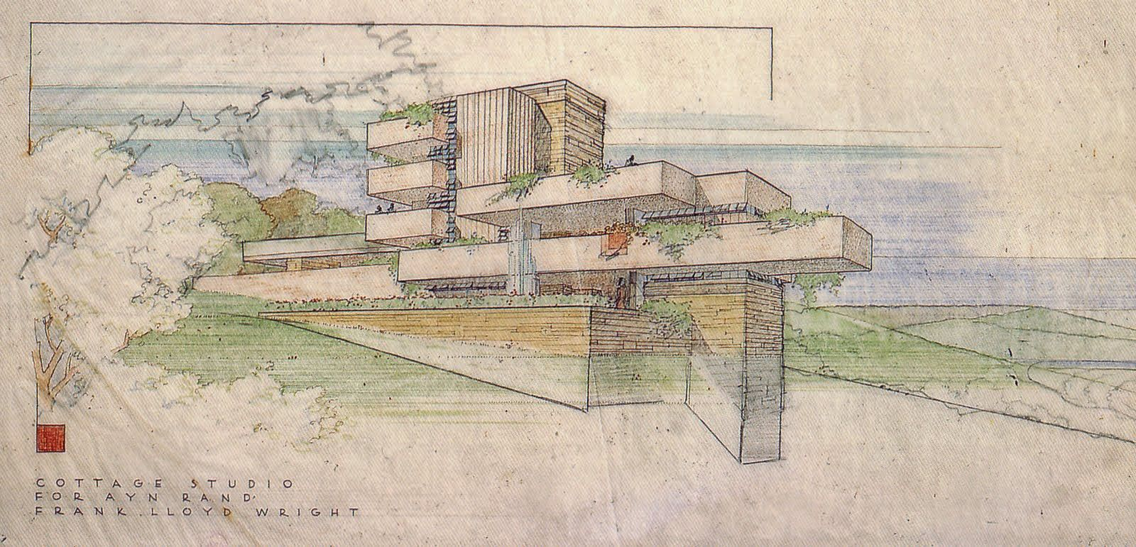 Image result for frank lloyd wright drawing