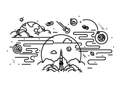 Astronaut Line Drawing at GetDrawings | Free download  |Astronomy Line Drawing