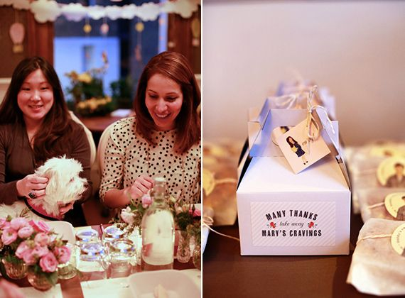 party favors - package some of her favorite pregnancy cravings in cute little boxes.