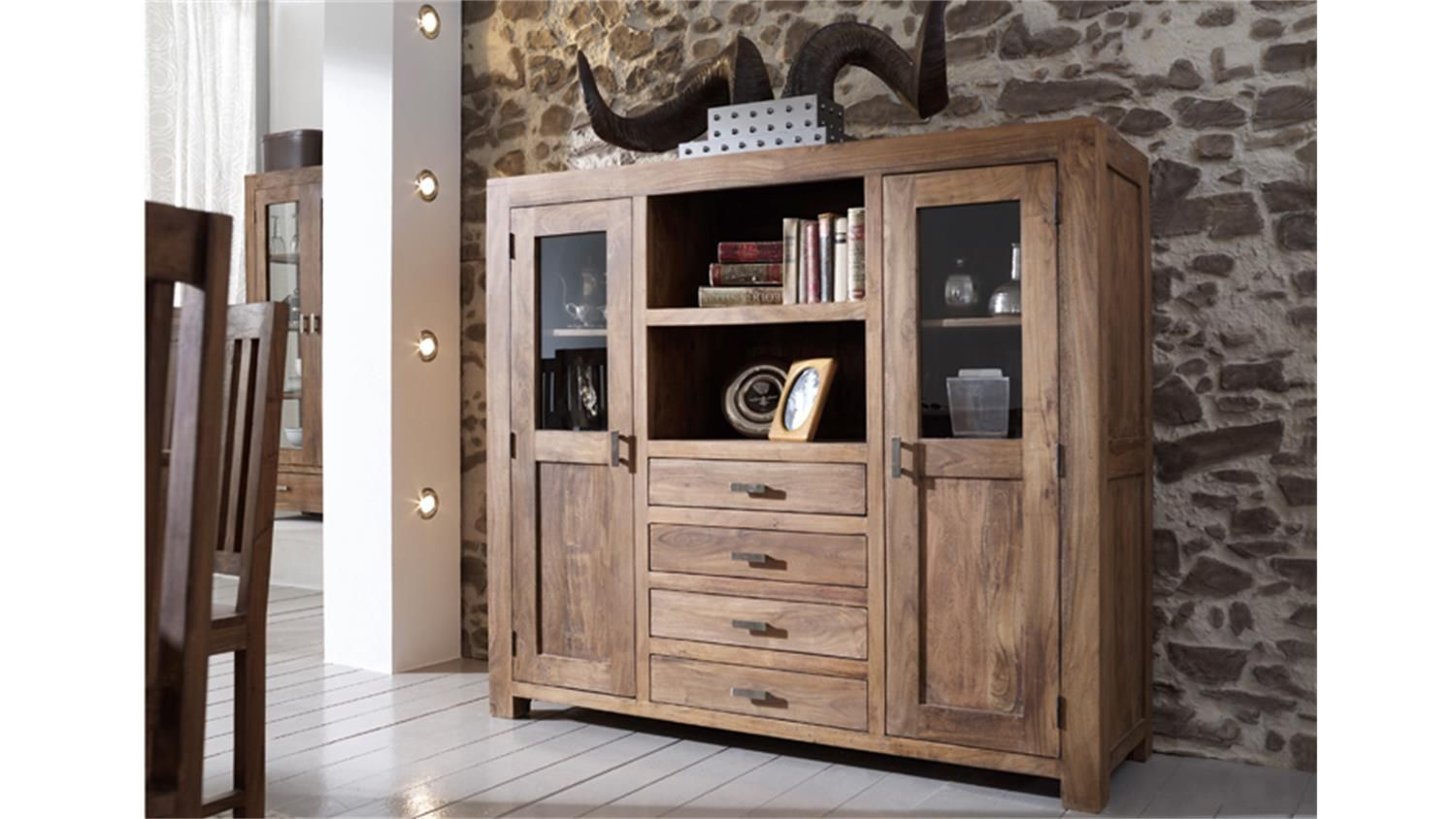 Highboard Nussbaum Satin Schön Highboard Massiv Home Accessories Living Room Furniture