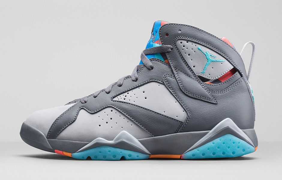 Sneaker Sunday - DJ Skroog MkDuk - Jordan 7 Retro - Dark Grey/Wolf  Grey/Total Orange/Turquoise Blue Release Date: