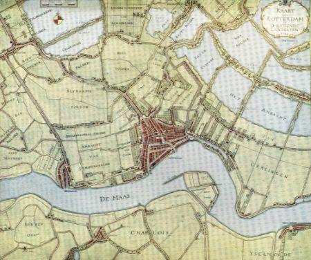 1784 Rotterdam En Omgeving Oude Kaarten Stadsplattegronden En