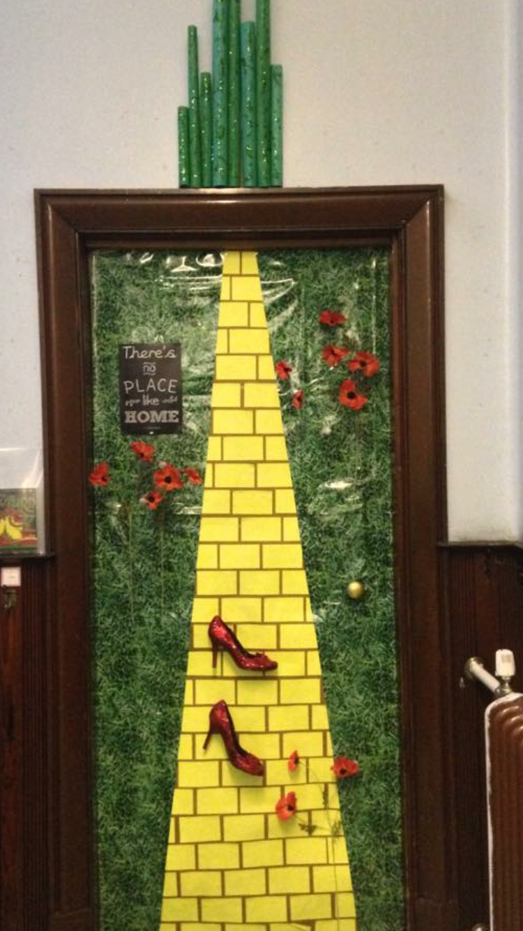 World Book Day Door Follow The Yellow Brick Road
