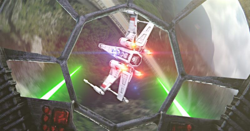 Camera Caché Star Wars : Epic star wars aerial battle shot using drones and creative camera