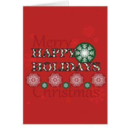 #gold - #Happy Holidays Polkadot Word Art Card