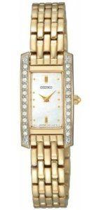 Seiko Ladies Gold Tone Stone Set Watch with Mother of Pearl Dial Seiko. $148.06