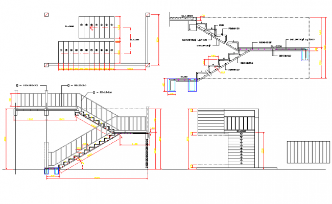 Concrete Stairs Plan Detail Dwg Concrete Stairs Stair Plan How To Plan