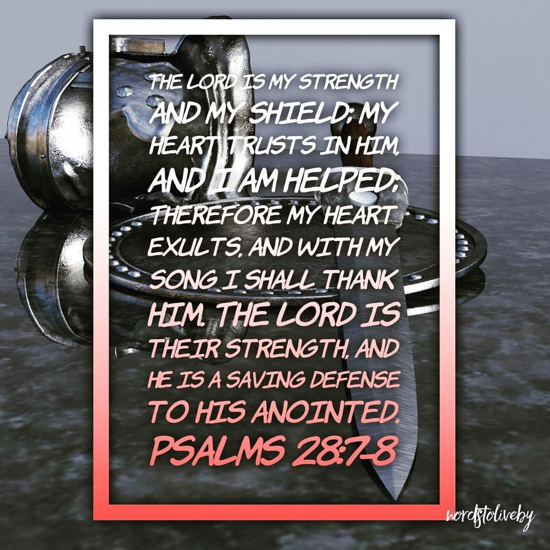 the lord is my defender psalms 28 7 8 beencouraged godisgood thelordismystrength thelordismydefender bible teachings godly relationship spiritual quotes the lord is my defender psalms 28 7 8