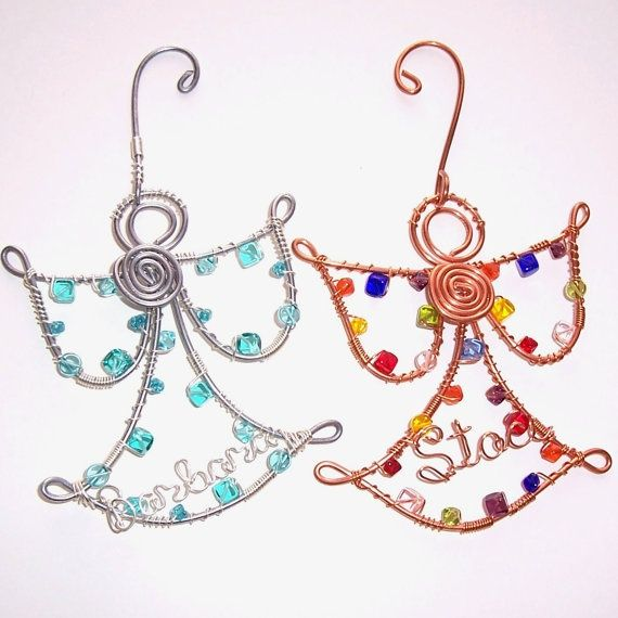 day wire bead Christmas Ornaments | Wire Name ANGEL Christmas ...