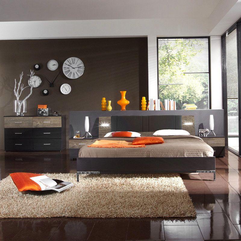 Schlafzimmerset 4-tlg »MALAGA« lava, Wildeiche Jetzt bestellen unter