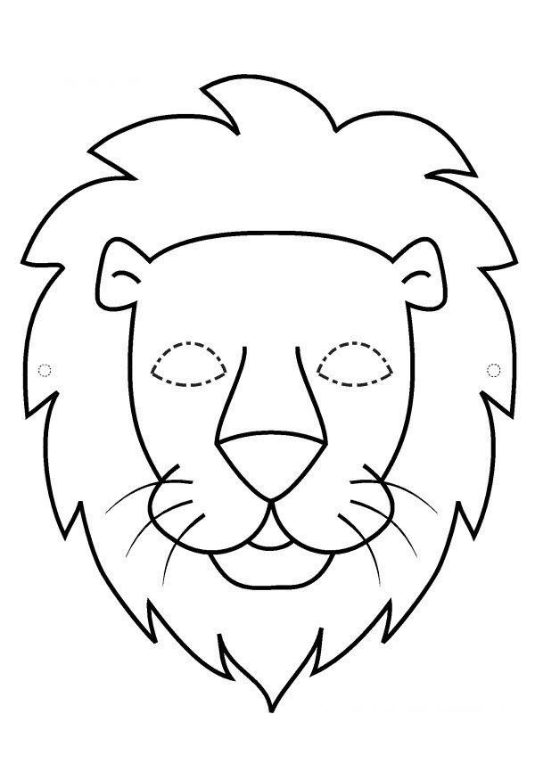 Pdf Masque Lion Noir Et Blanc Boyama Sayfaları Pinterest