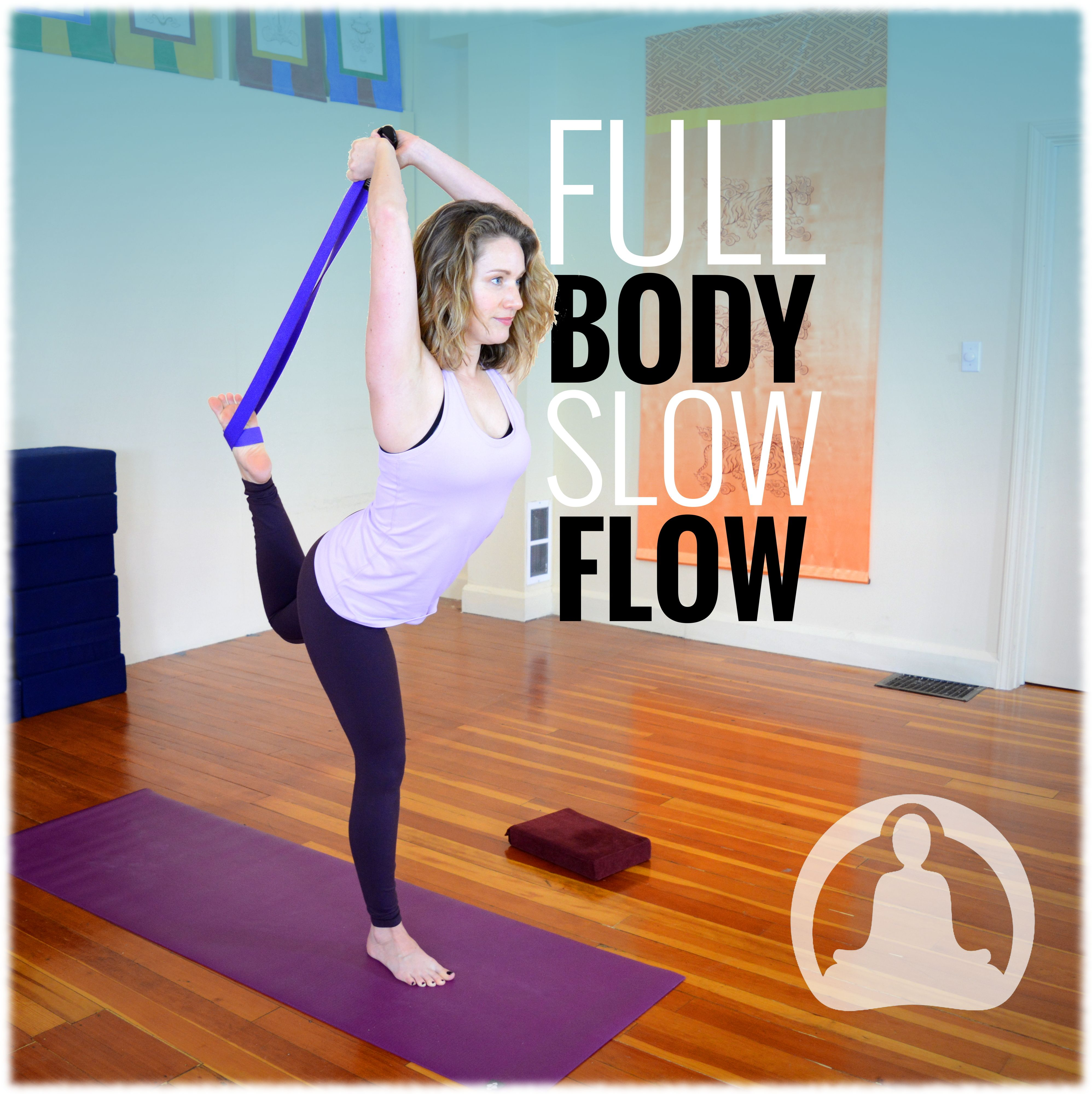 This hatha flow yoga class with melissa has a nice slow