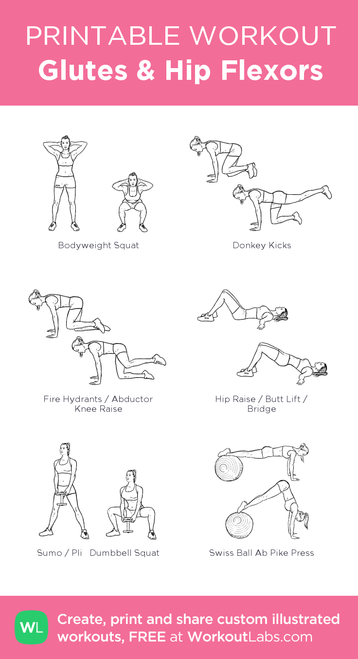 Glutes Amp Hip Flexors My Visual Workout Created At