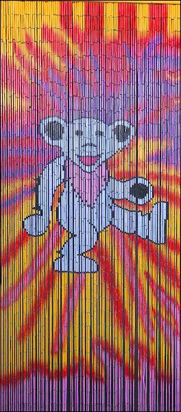 Charmant Grateful Dead Tie Dye Bear Door Beads