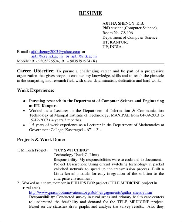 General Resume Objective Sample Examples Pdf Inside Corporate