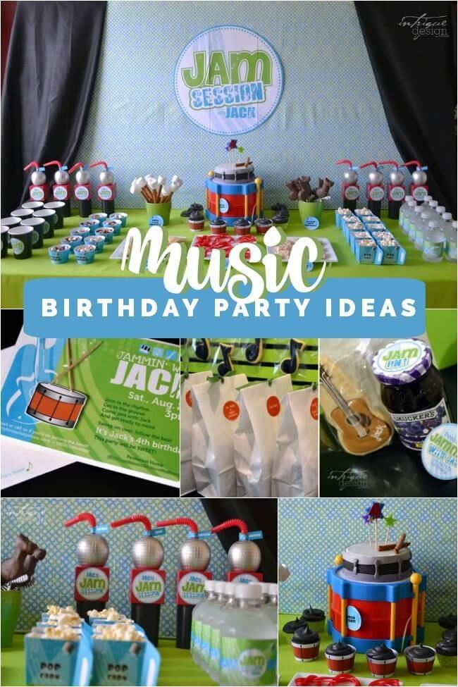 Boy's Music Themed Birthday Party