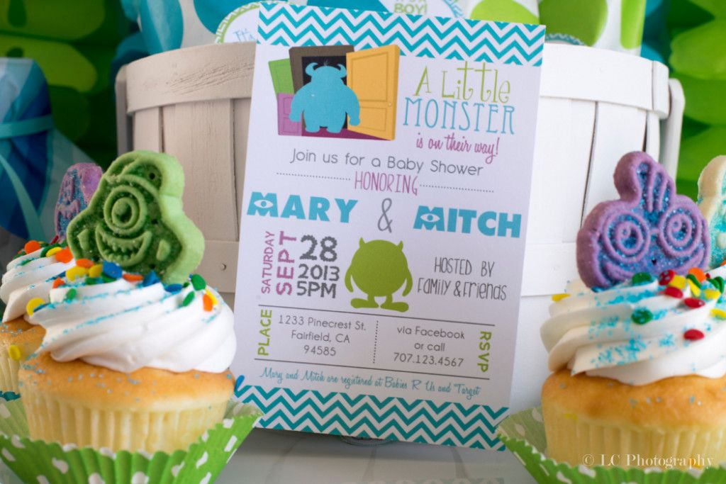 Monsters Inc. Baby Shower Invitations - PinkDucky.com | Photography ...