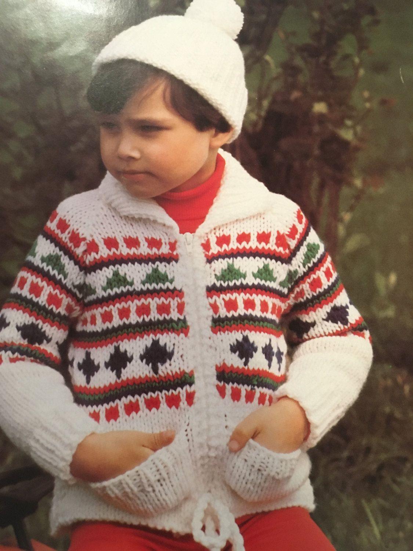 chunky knit childrens hat patterns vintage