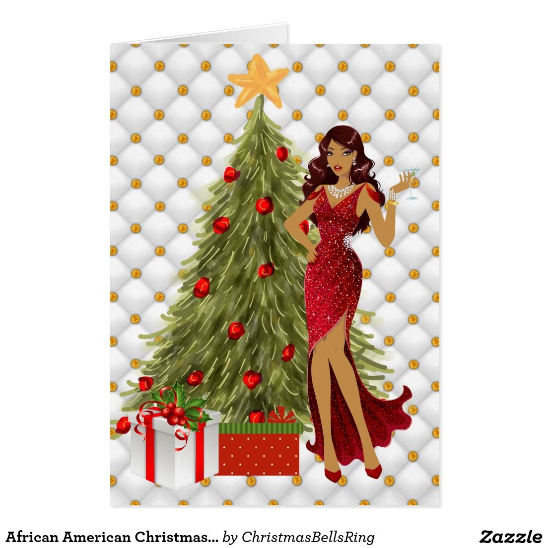 african american christmas card with beautiful  zazzle
