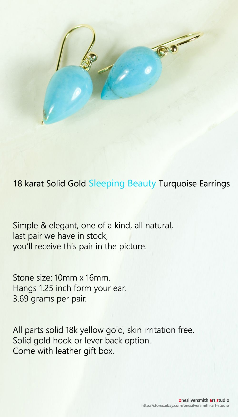 Pure 18k or 14k Gold Pale Aqua Blue Chalcedony Drop Earrings Lever Back Option