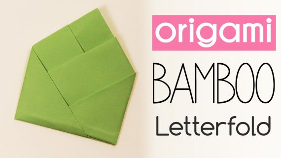 Origami Bamboo Letter Fold  Origami Origami Instructions And Diagram