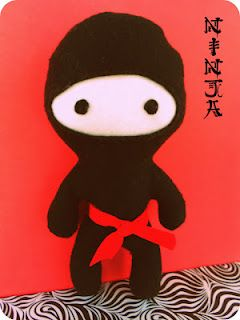 *Rook No. 17: recipes, crafts & creative nesting*: Ninja Birthday Party, Part III ~Lil' Plush Ninja Tutorial