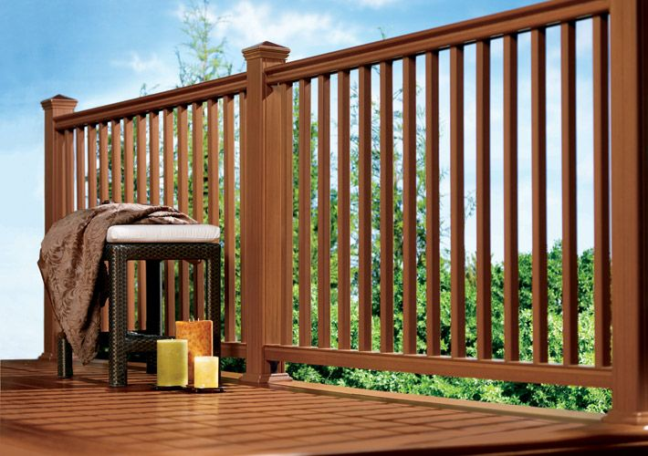 Eon Ultra Deck Railings Deck | Cedar Handrail Home Depot | Railing Systems | Handrail Kit | Cedar Tone | Deck Stair Railing Kit | Aluminum Balusters