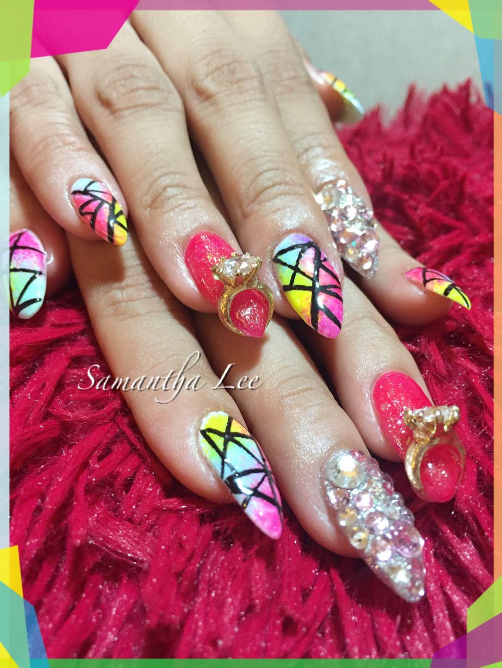 Summer Nail Summer Nails Gel Designs Pink Gel Nails