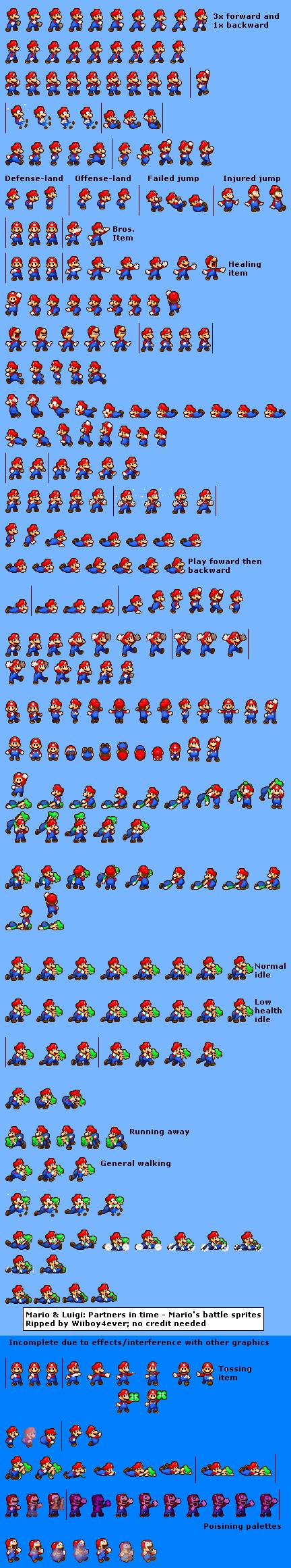 Mario Luigi Partners In Time Mario Battle