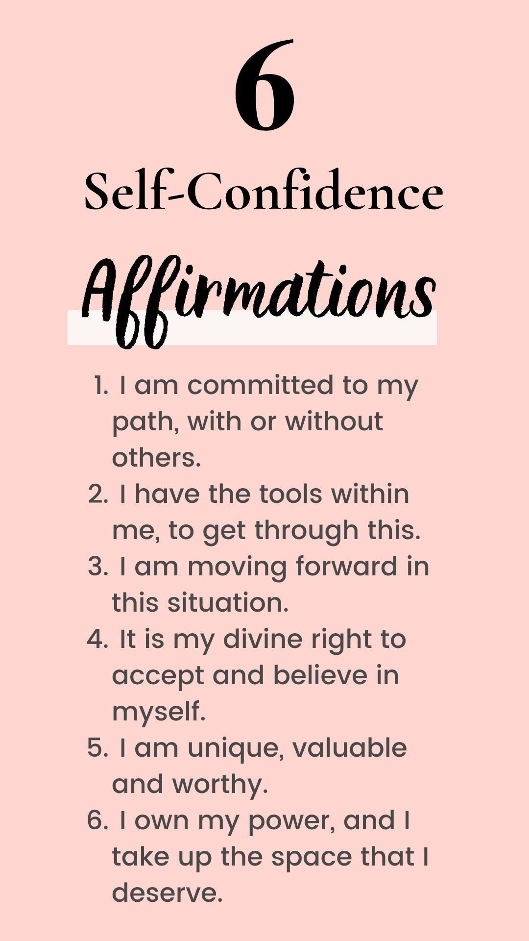 Self-Confidence Affirmations for Millennial Women.