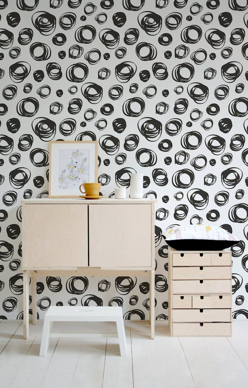 Removable Wallpaper Removable Wall Decor Temporary Etsy Removable Wallpaper Removable Wall Decor