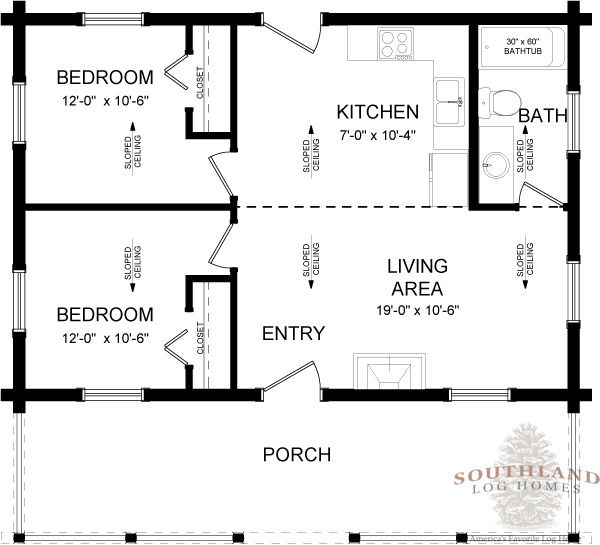 The willow creek log cabin kit plans information is for The willow house plan