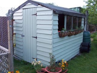Garden Sheds Painted shed paint | gardening | pinterest | gardens