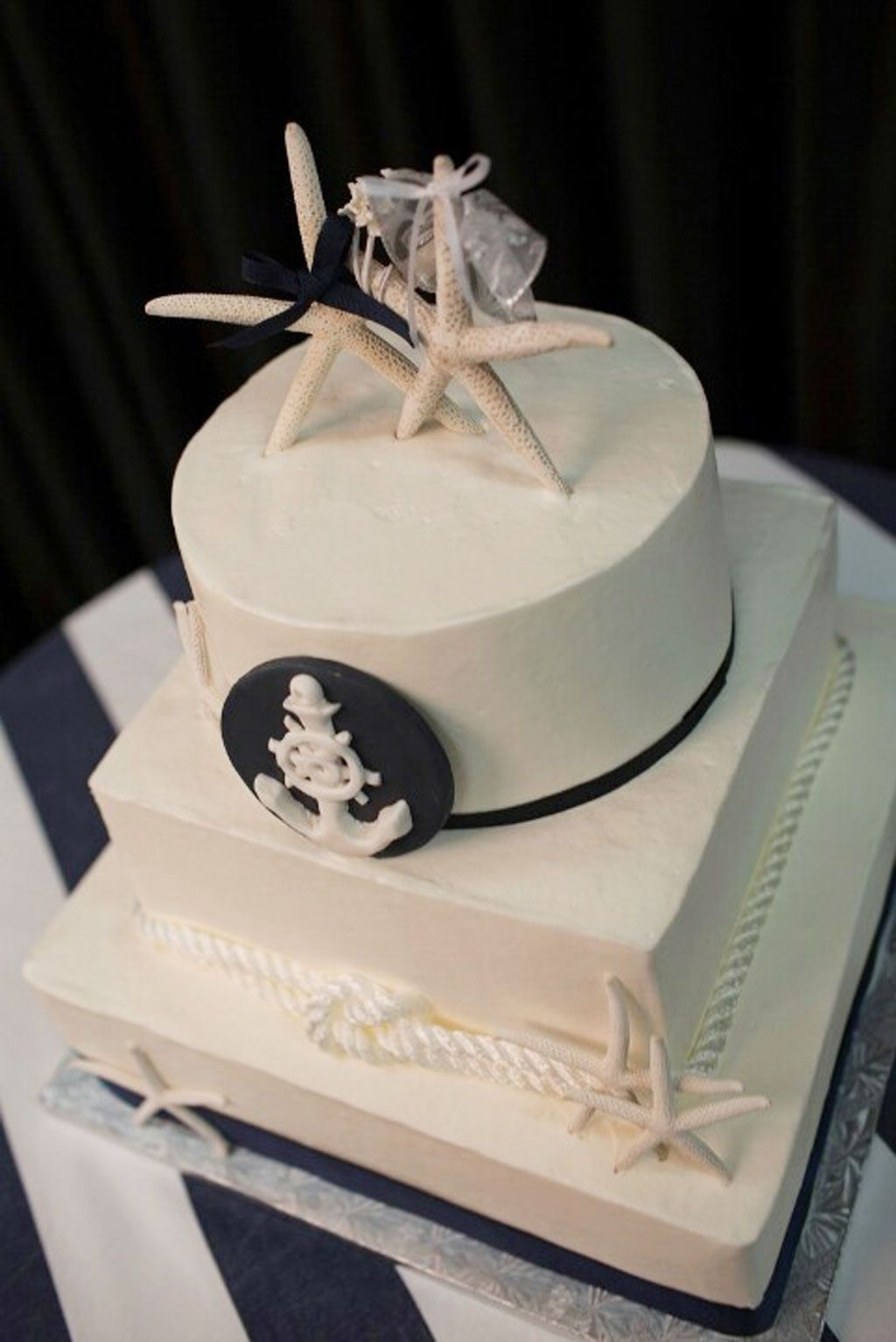 Nicely-done-nautical-wedding-cake.jpg (1024×1533)