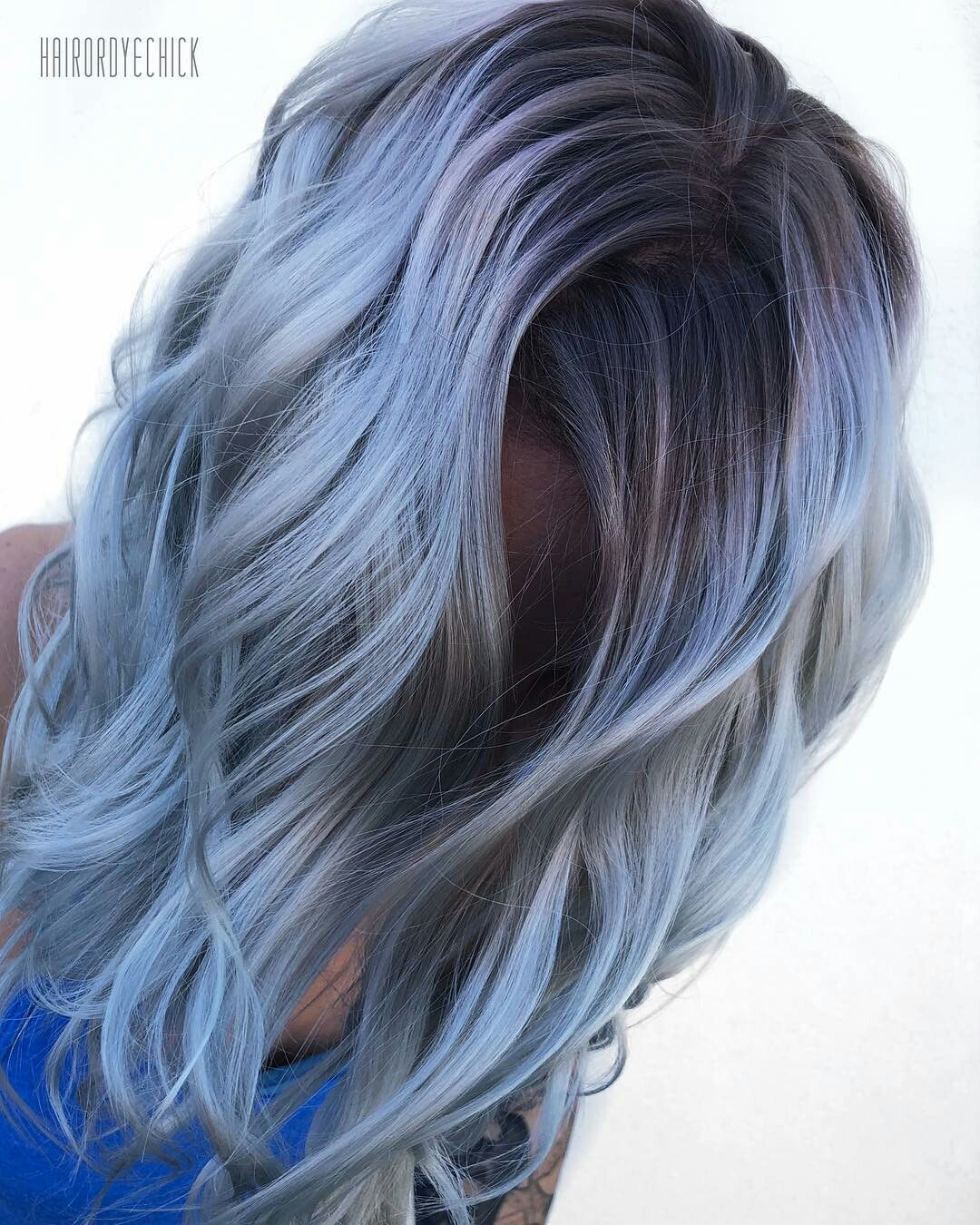Hairstyles Blue Hair Denim Hair Ombre Hair Color