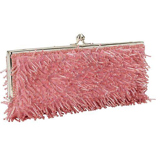 Moyna Handbags Beaded Evening Clutch Raspberry Bags
