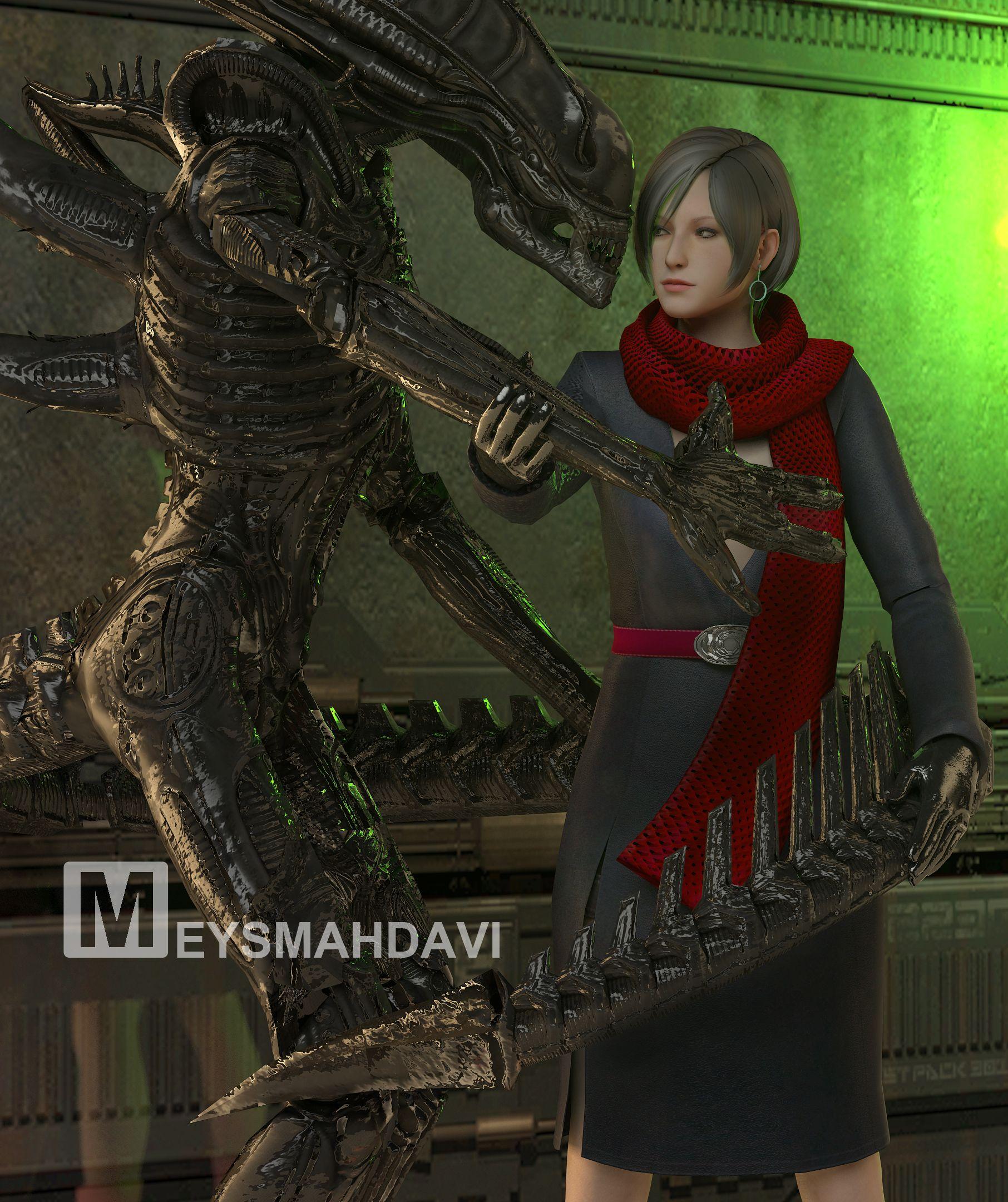 Carla Radames Resident Evil 6 And Alien My 3d Art Ada Wong