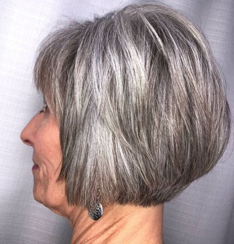 65 gorgeous gray hair styles in 2020  grey hair short