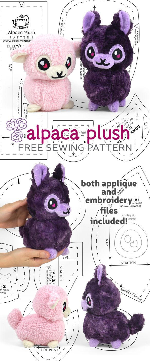 Free Pattern Friday! Alpaca Plush | Choly Knight #stuffedtoyspatterns
