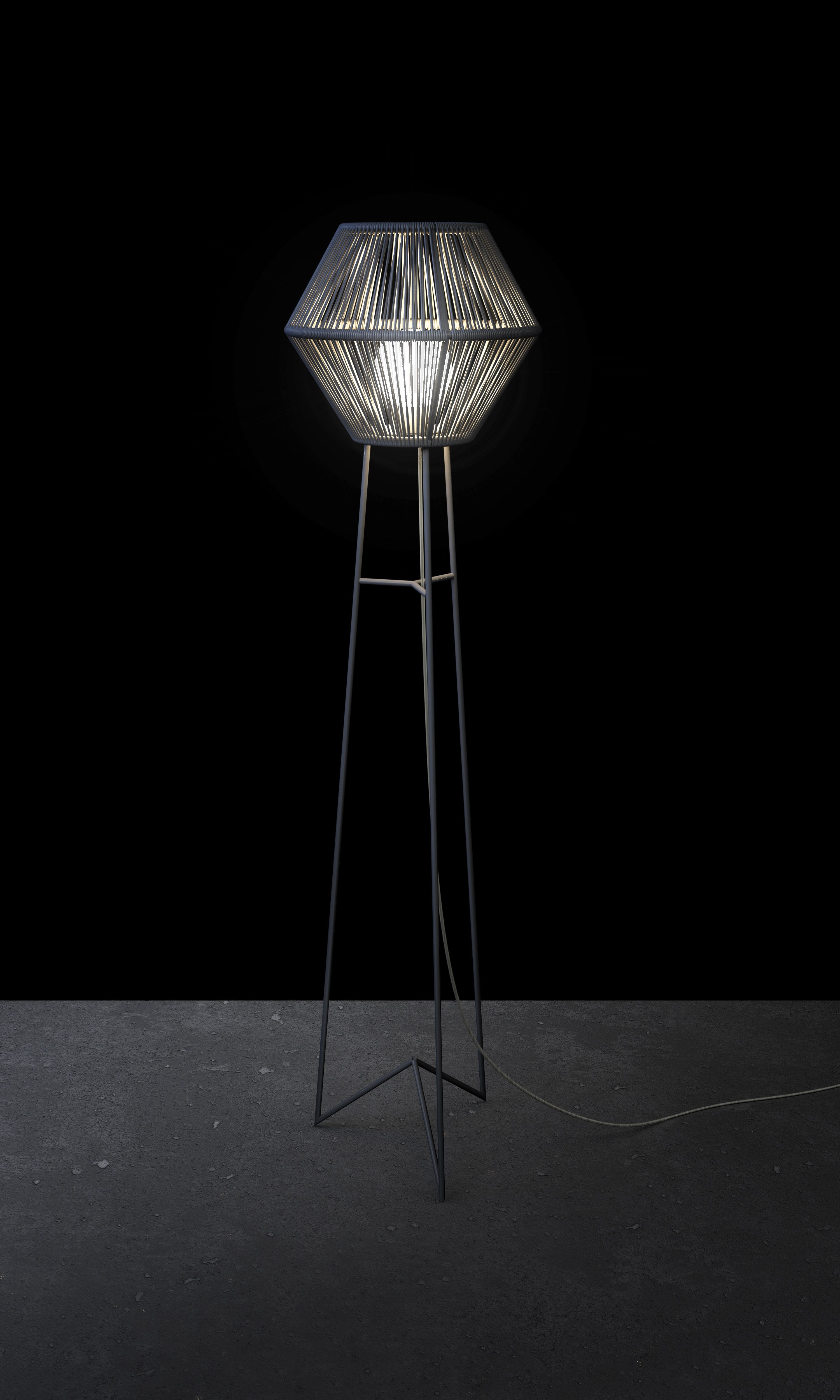 La Caleta   lighting design by davidpompa   woven plastic string ... for String Floor Lamp  lp5fsj
